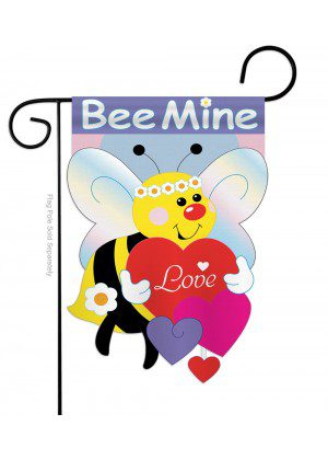 Bee Mine Garden Flag | St. Patrick's Day Flags | Applique Flag | Cool Flag