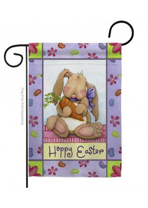 Bunny and Beans Garden Flag | Easter Flags | Garden Flags | Yard Flags