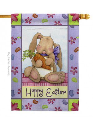 Bunny and Beans House Flag | Easter Flags | House Flags | Yard Flags