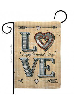 Classic Love Garden Flag | Valentine Flags | Valentine's Day Flags
