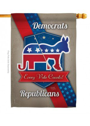 Every Vote Counts House Flag   Political Flags   Patriotic Flag   House Flag