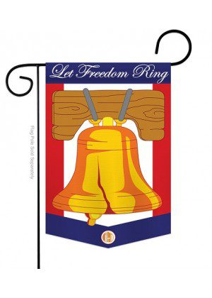 Freedom Bell Garden Flag | Patriotic Flags | Applique Flags | Garden Flags