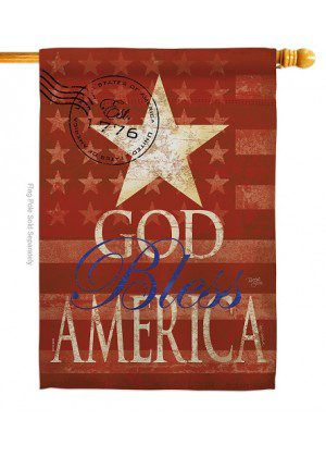 God Bless America House Flag | House Flags | Patriotic Flags | Cool Flags