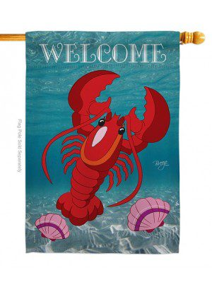 Lobster House Flag | Spring Flag | House Flags | Welcome Flags