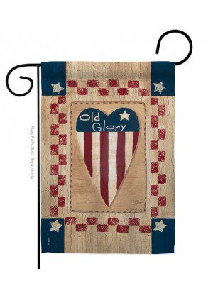 Old Glory Heart Garden Flag | Patriotic Flags | Garden Flags | Cool Flags
