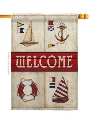 Sailing Collage House Flag | Spring Flag | House Flags | Welcome Flags