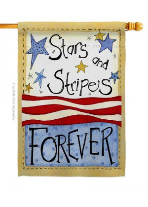 Stars & Stripes House Flag | House Flags | Patriotic Flags | Cool Flags
