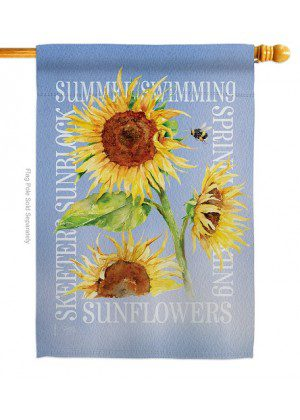 Summer Sunflower House Flag | Spring Flags | House Flags | Floral Flags