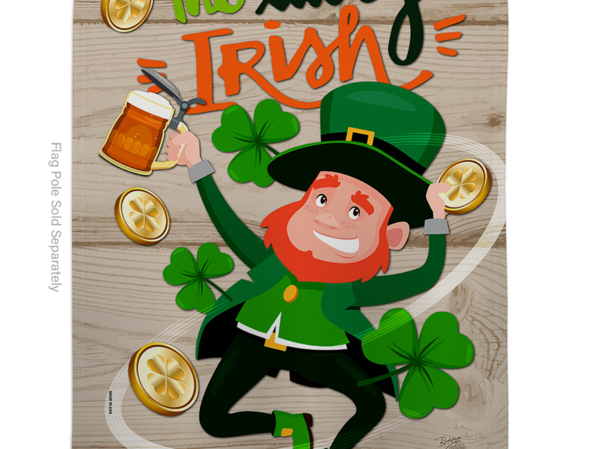 Luck of The Irish Garden Flag Double Sided St Patrick/'s Day Flag with Wa...
