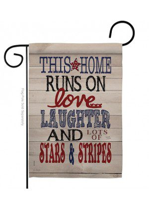This Home Star and Stripes Garden Flag | Patriotic Flags | Garden Flags