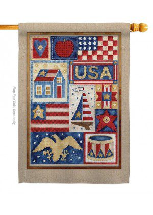 USA Collage House Flag | House Flags | Patriotic Flags | Cool Flags | Flag