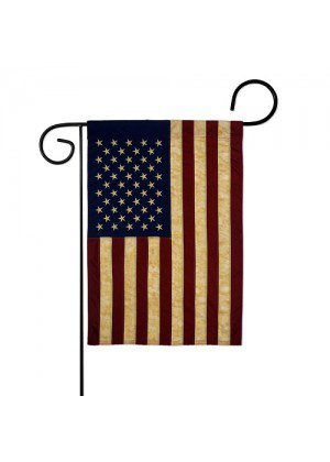USA Vintage Garden Flag | Patriotic Flags | Applique Flags | Garden Flags