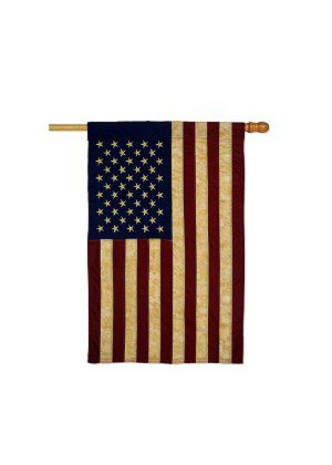 USA Vintage House Flag | Patriotic Flags | Applique Flags | House Flags