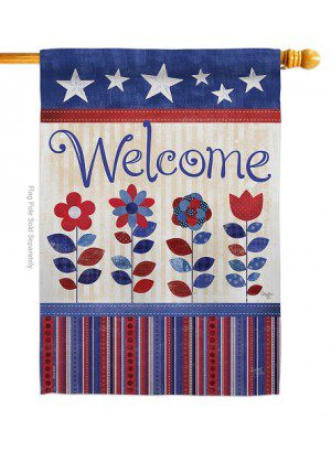 Welcome Patriotic House Flag | House Flags | Patriotic Flags | Cool Flags