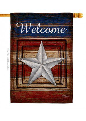Welcome Vintage House Flag | House Flags | Patriotic Flags | Cool Flags