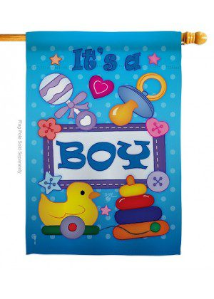 Baby Boy House Flag | Celebration Flags | Yard Flags | House Flags | Flag