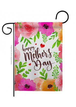 Colorful Happy Mother's Day Garden Flag | Mother's Day Flags | Yard Flag