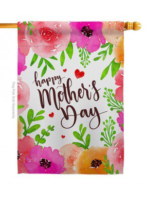 Colorful Happy Mother's Day House Flag | Mother's Day Flag | House Flag