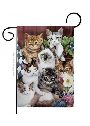 Cuddly Kittens Garden Flag | Animal Flags | Garden Flags | Yard Flags