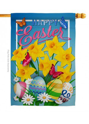 Daffodils Easter House Flag | Easter Flags | House Flags | Yard Flags