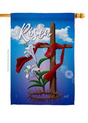 Easter Cross House Flag | Easter Flags | House Flags | Yard Flags | Flags