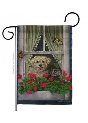 Faithfully Yours Garden Flag | Animal Flags | Garden Flags | Yard Flags