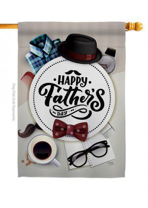 Fancy Dad Day House Flag | Father's Day Flags | House Flags | Yard Flag