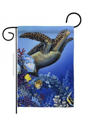 Flight of the Sea Turtle Garden Flag | Animal Flags | Garden Flags | Flags