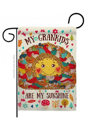 Grandkids Are My Sunshine Garden Flag | Two Sided Flags | Garden Flags