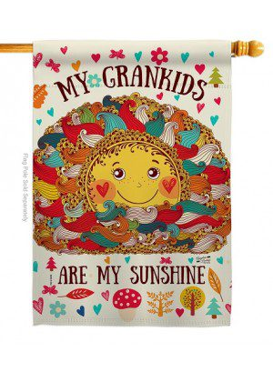 Grandkids Are My Sunshine House Flag | Two Sided Flags | House Flags
