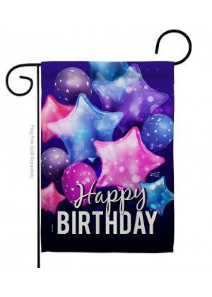 Happy Birthday Balloon Garden Flag | Celebration Flags | Garden Flags