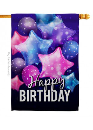 Happy Birthday Balloon House Flag | Celebration Flags | House Flags