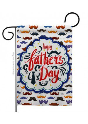 Happy Father's Day Mustache Garden Flag | Father's Day Flags | Flags