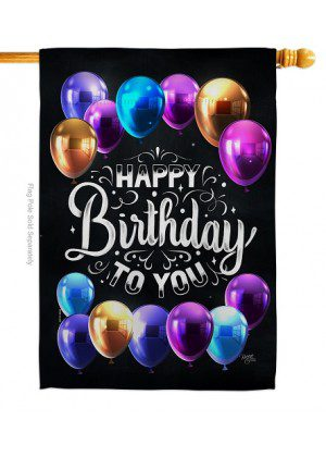Hooray Birthday House Flag | Celebration Flags | House Flags | Yard Flags