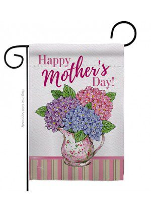 Mother Day Hydrangeas Garden Flag | Mother's Day Flags | Yard Flags