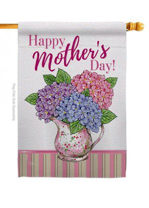 Mother Day Hydrangeas House Flag | Mother's Day Flags | House Flags