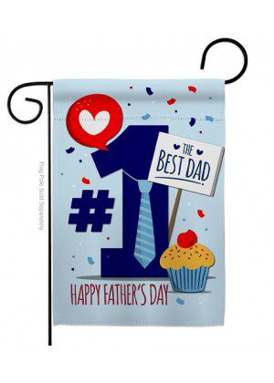 Number 1 Dad Garden Flag | Father's Day Flags | Garden Flag | Yard Flag