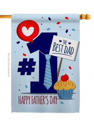 Number 1 Dad House Flag | Father's Day Flags | House Flags | Yard Flags