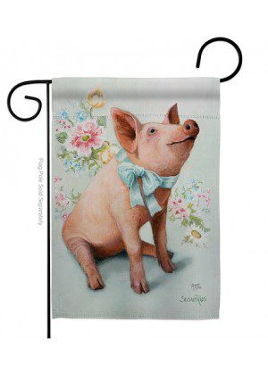 Piglet Garden Flag | Animal Flags | Garden Flags | Yard Flags | Lawn Flags