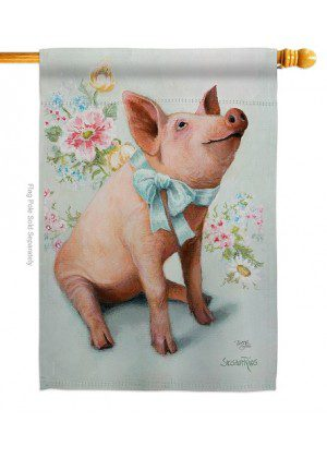 Piglet House Flag | House Flags | Animal Flags | Yard Flags | Flags