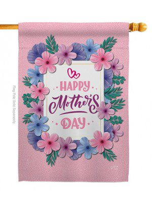 Pink Mother Day House Flag | Mother's Day Flags | House Flag | Yard Flag