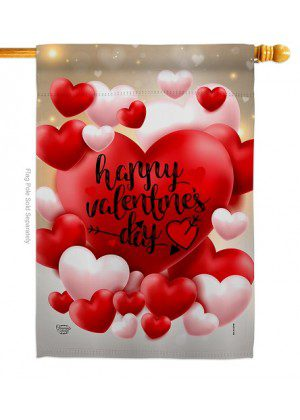 Pop Hearts Valentines Day House Flag | Valentine Flags | House Flags