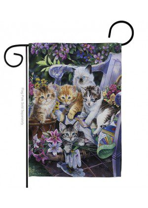Purfect Gardening Buddies Garden Flag | Animal Flags | Garden Flags