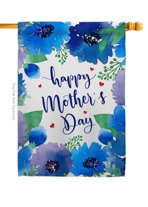 Royal Floral Mother's Day House Flag | Mother's Day Flags | House Flags