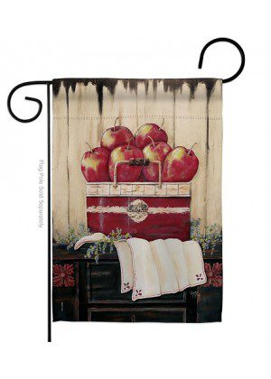Ruby Red Country Apple Garden Flag | Garden Flags | Farmhouse Flags