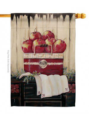 Ruby Red Country Apple House Flag | House Flags | Farmhouse Flags