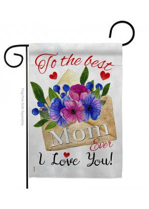 To The Best Mom Garden Flag | Mother's Day Flags | Garden Flags