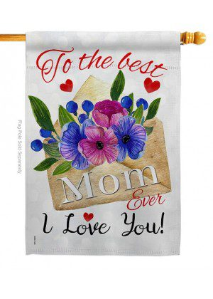 To The Best Mom House Flag | Mother's Day Flag | House Flag | Yard Flag