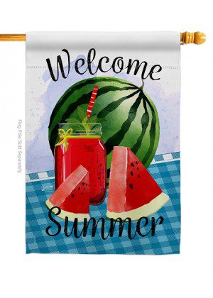 Watermelon Summer House Flag | House Flags | Welcome Flags | Flags