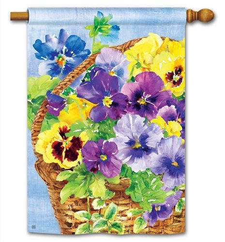 Pansy Blooms Garden Flag Floral Flags Garden Flags Yard Flags